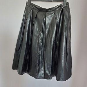 5/$30  Kiind Of Starrett Faux Leather Midi Skirt